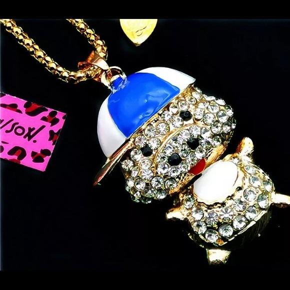 Betsey Johnson Jewelry - BETSEY JOHNSON~ Baseball PIGGY Necklac